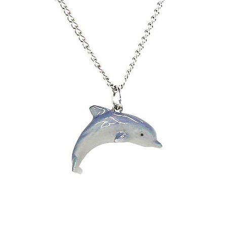 Dolphin Pendant Porcelain Jewelry