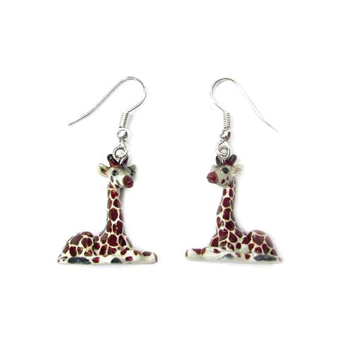 Giraffe Porcelain Earrings
