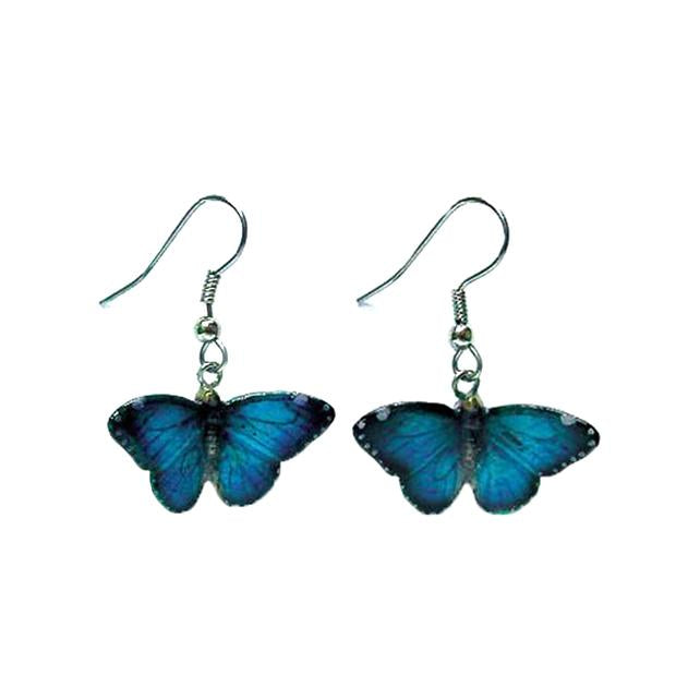 Butterfly - Blue Morpho Butterfly Earrings
