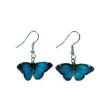 Butterfly - Blue Morpho Butterfly Porcelain Earrings