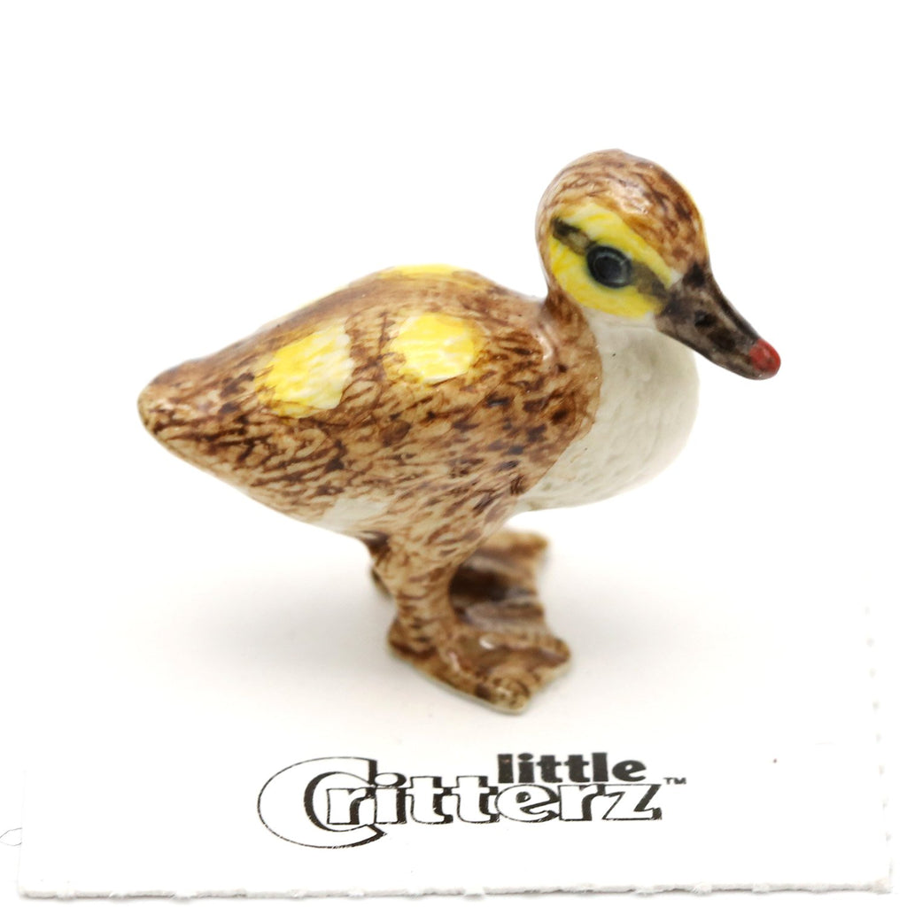 "Duck - Mallard Duckling Figurine - ""Mariana"" - Porcelain Animal FIgurines - Little Critterz, Little Critterz"