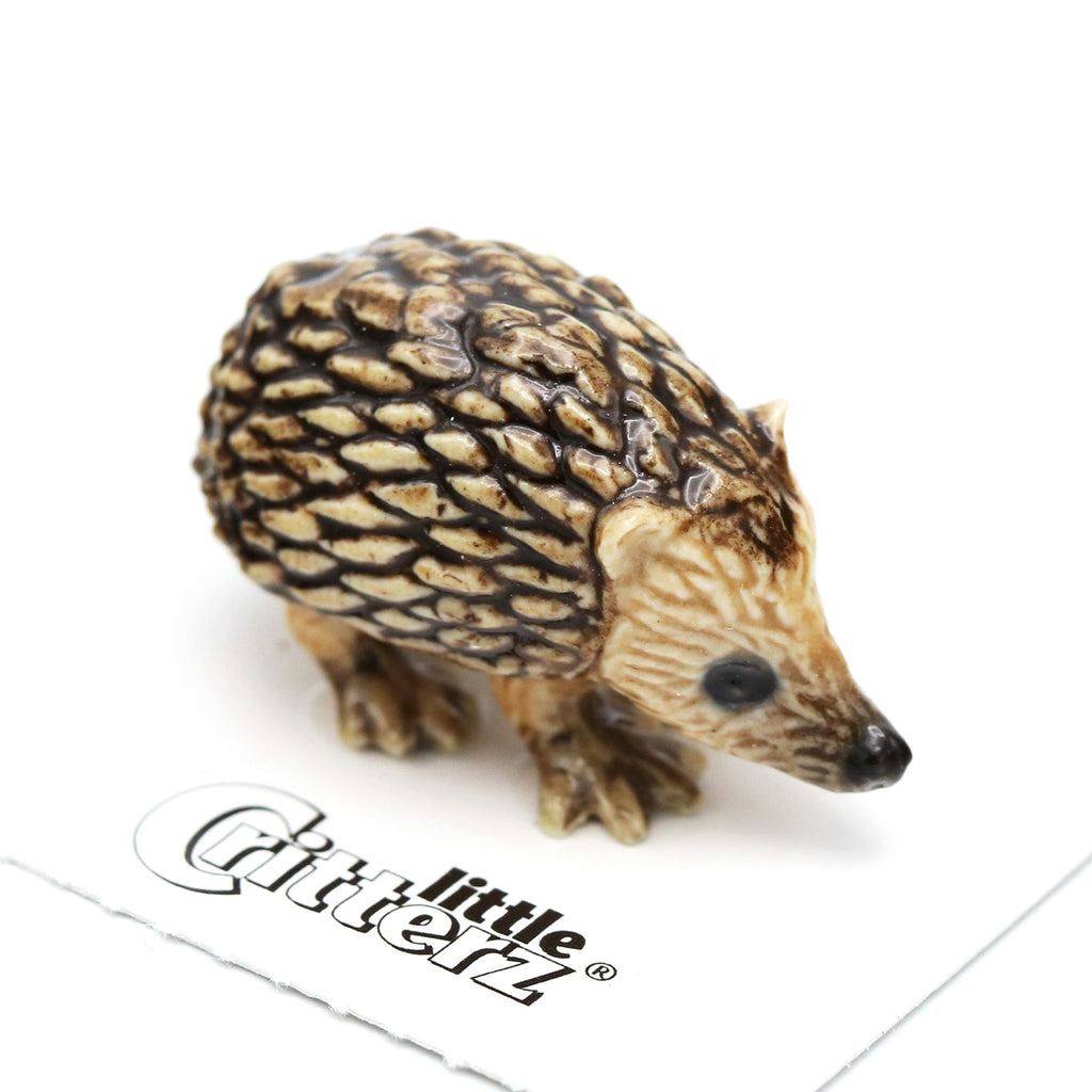"Hedgehog Figurine ""Tiggy"" - Porcelain Animal FIgurines - Little Critterz, Little Critterz"