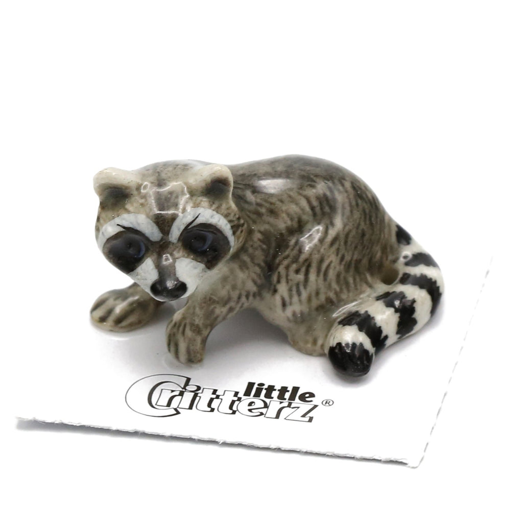 "Raccoon ""Bandit"" - miniature porcelain figurine"