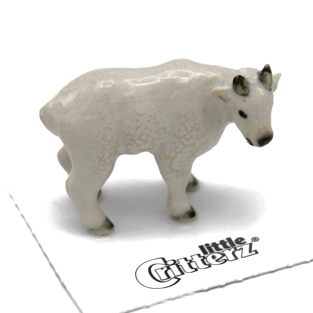 "Goat - Miniature Porcelain Mountain Goat - ""Alpine"" - Porcelain Animal FIgurines - Little Critterz, Little Critterz"