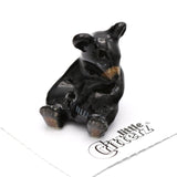 "Bear - Black Bear Cub  ""Honey"" - miniature porcelain figurine"