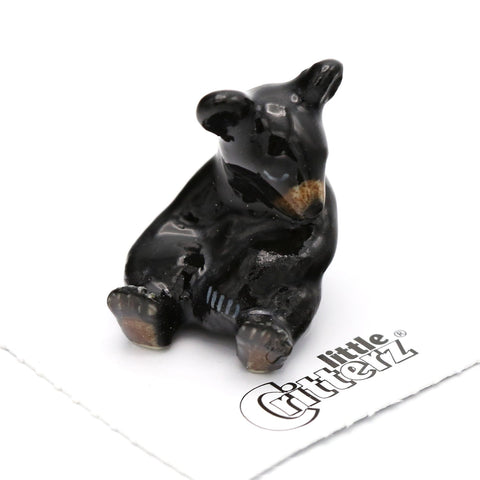 "Bear - Black Bear Cub Figurine - ""Honey"""