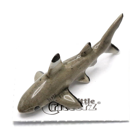 "Shark - Porcelain Black Tip Shark Figurine ""Guardian"""