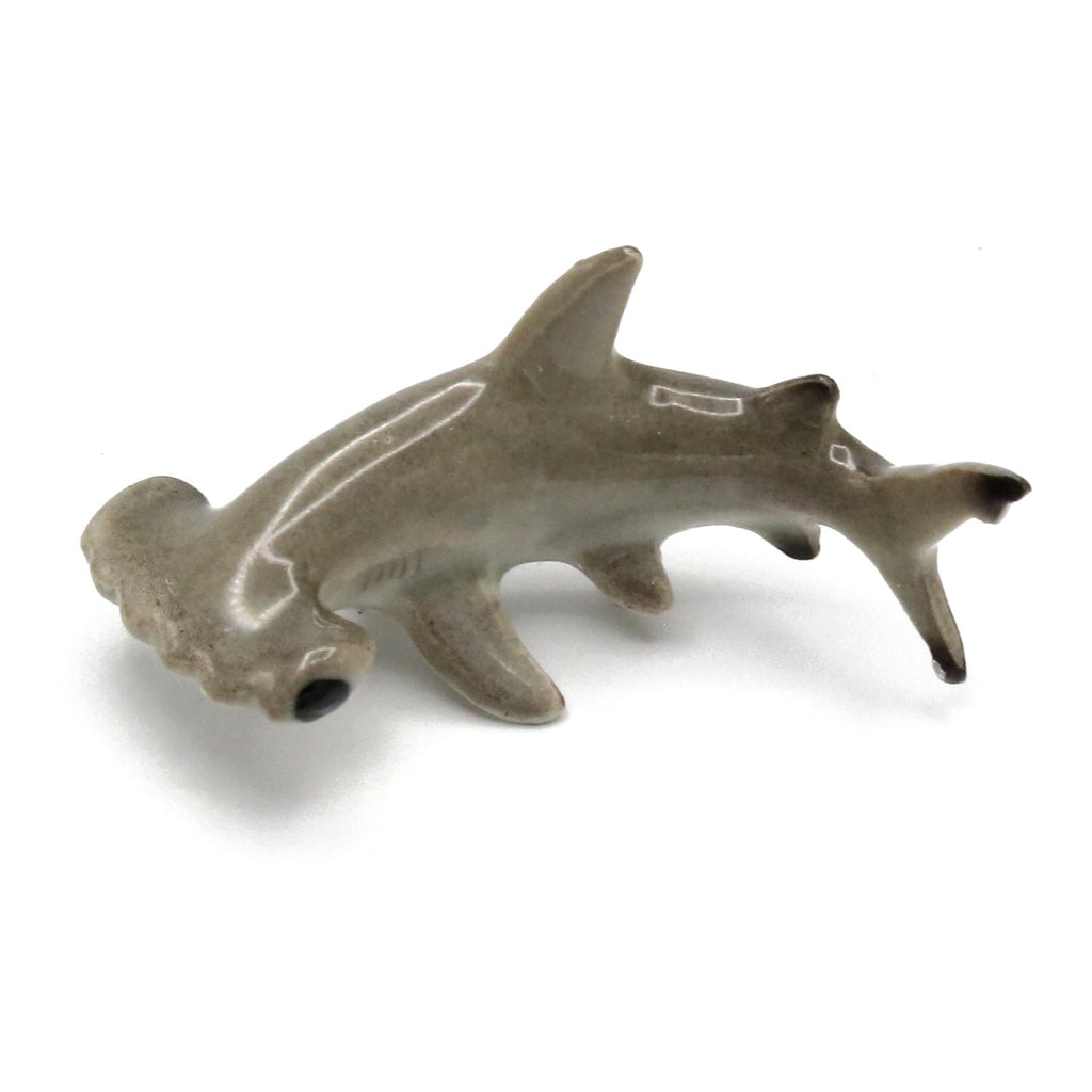 "Shark - Porcelain Hammerhead Shark Figurine - ""Sensor"" - Porcelain Animal FIgurines - Little Critterz, Little Critterz"