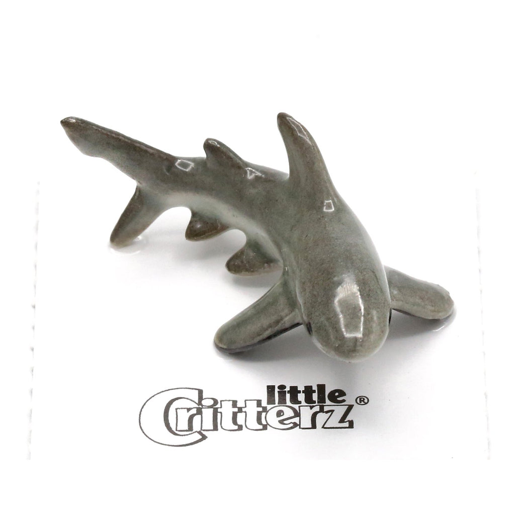 "Shark - Porcelain Great White Shark - ""Ambush"" - Porcelain Animal FIgurines - Little Critterz, Little Critterz"