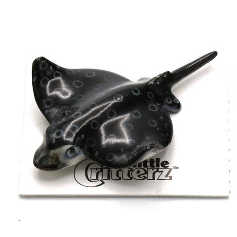 "Ray -  Spotted Eagle Ray  ""Snout"" - miniature porcelain figurine"