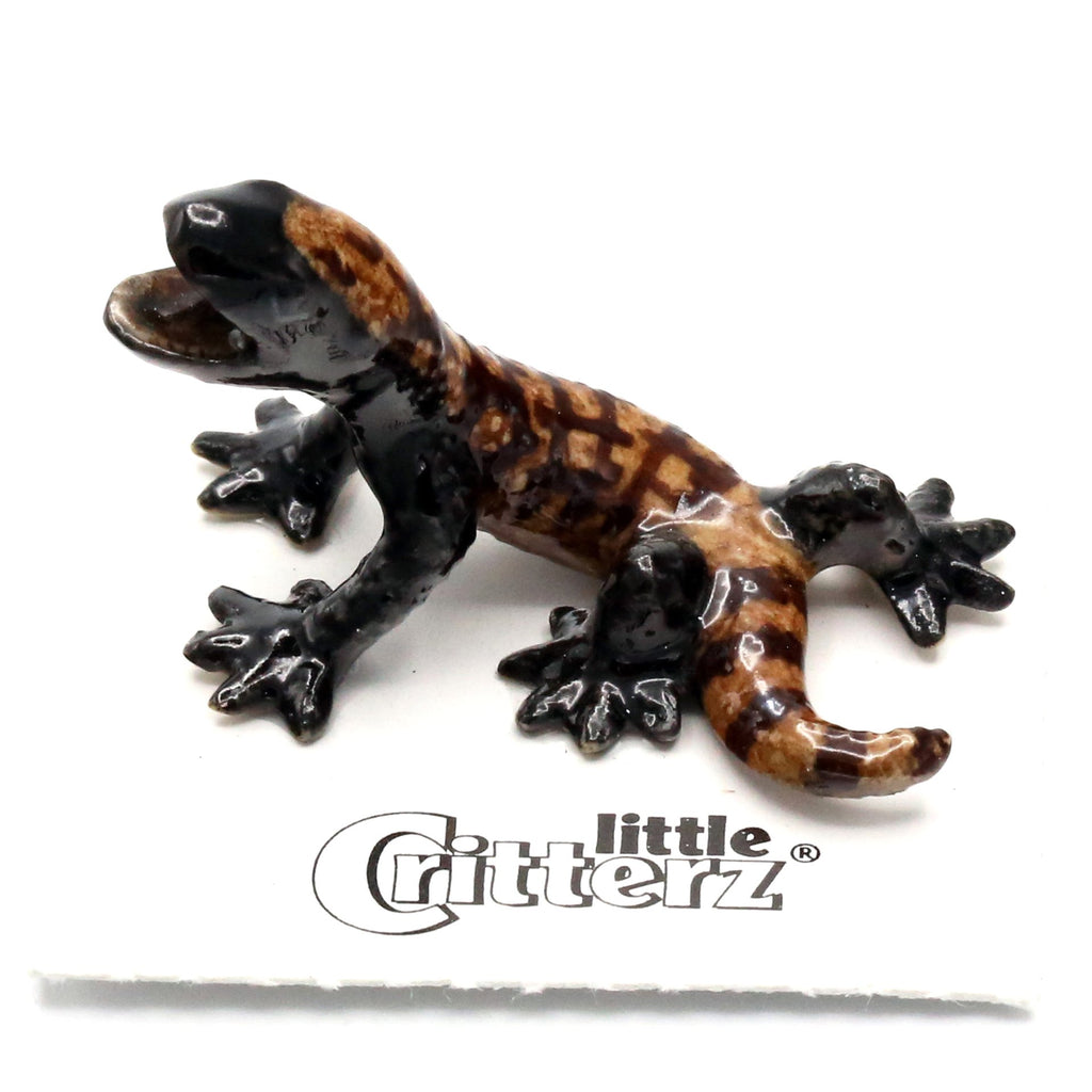 "Lizard - Procelain Gila Monster - ""Arizona"" - Porcelain Animal FIgurines - Little Critterz, Little Critterz"