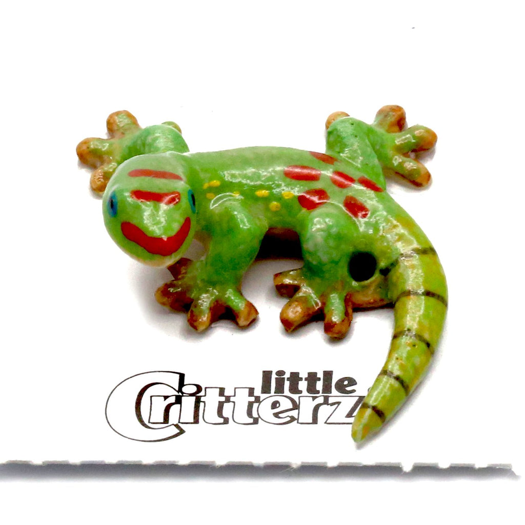 "Lizard - Hand Made Day Gecko Figurine - ""Gold Dust"""