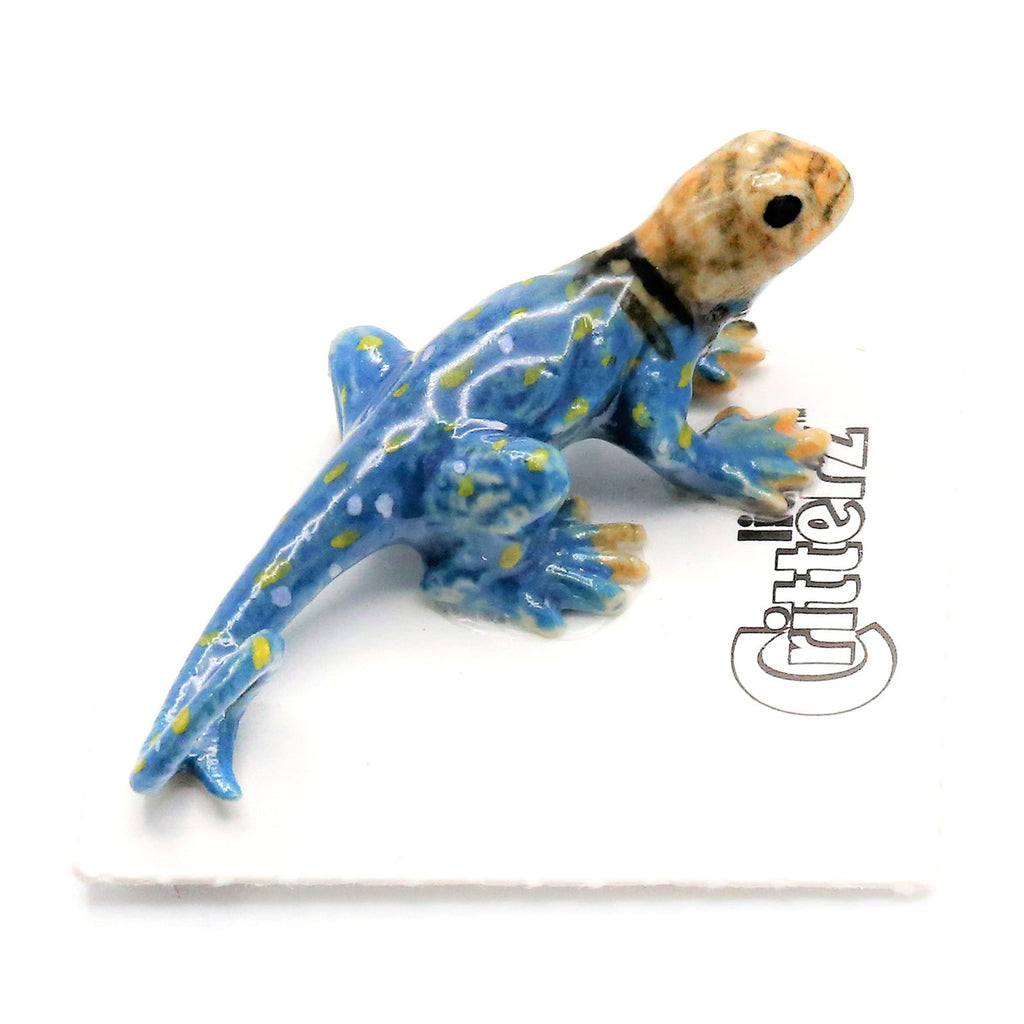 "Lizard - Collared Lizard Ceramic - ""Boomer"" - Porcelain Animal FIgurines - Little Critterz, Little Critterz"