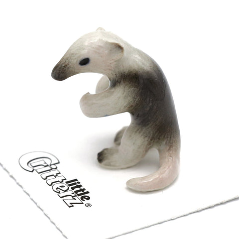 "Anteater - Miniature Porcelain Lesser Anteater - ""Claws"" - Porcelain Animal FIgurines - Little Critterz, Little Critterz"