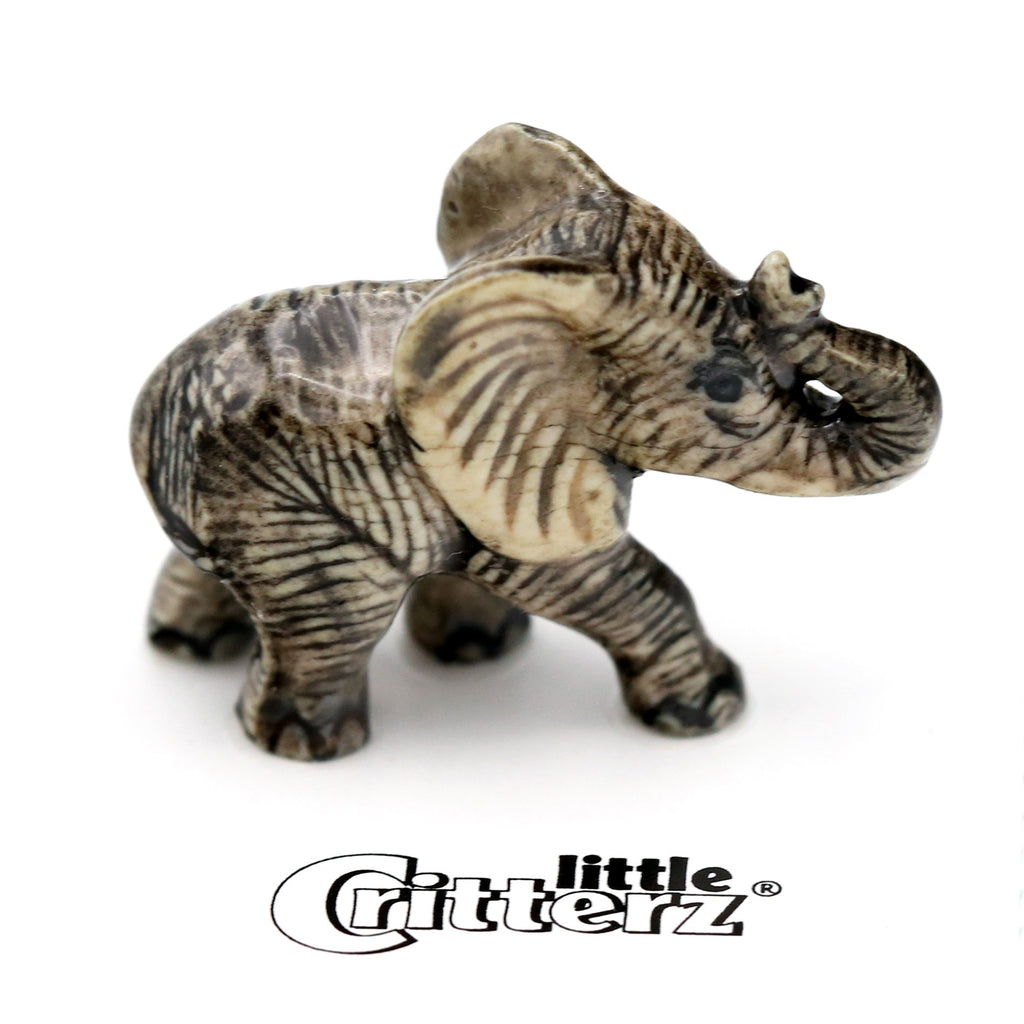 "Elephant figurine - African Elephant Calf - ""Savanna"" - Porcelain Animal FIgurines - Little Critterz, Little Critterz"