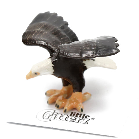 "Eagle Figurine - Bald Eagle ""Ari"" - Porcelain Animal FIgurines - Little Critterz, Little Critterz"