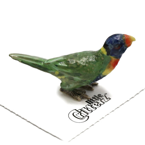 "Lorikeet Figurine - ""Rainbow"" - Porcelain Animal FIgurines - Little Critterz, Little Critterz"