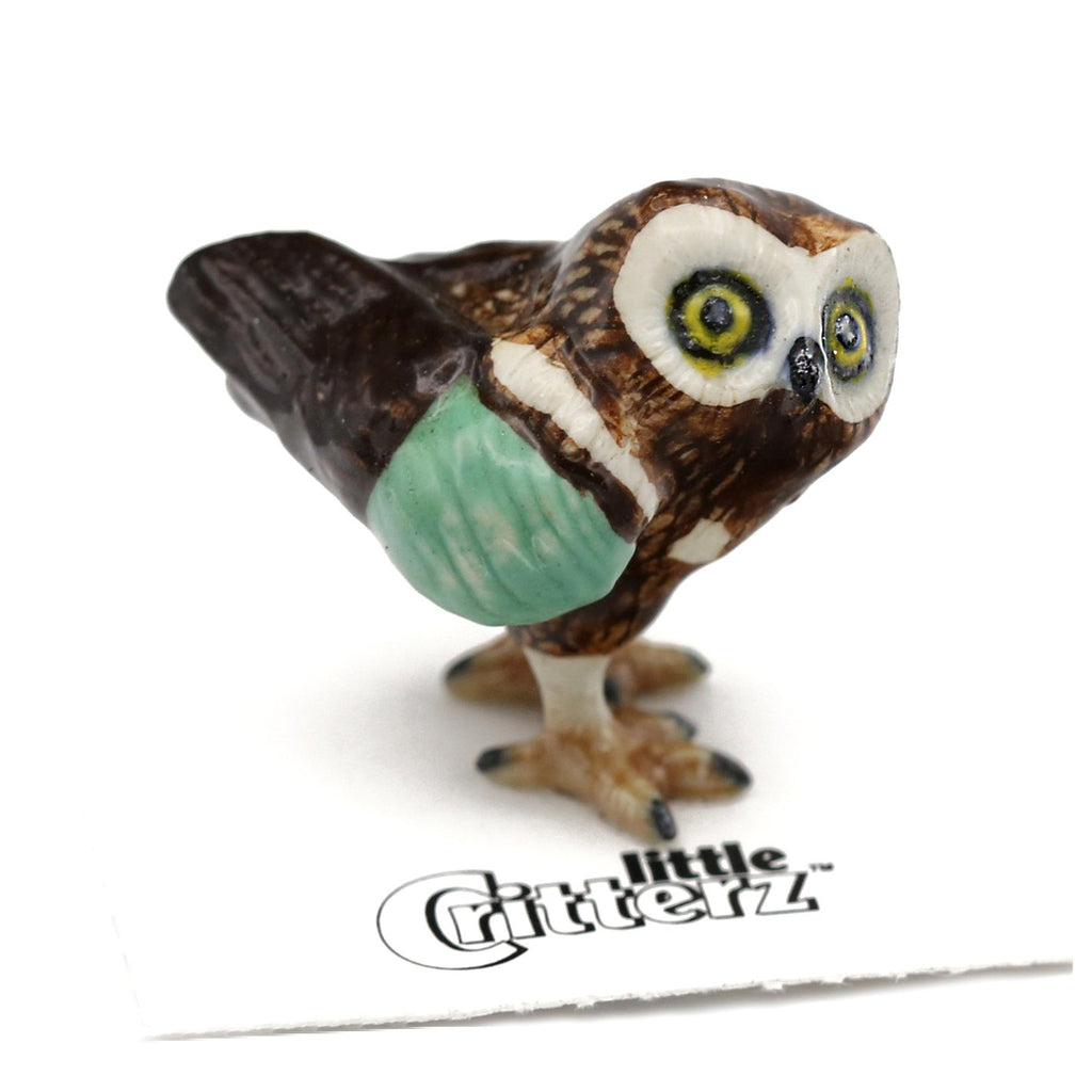 "Rescue Owl - ""Winthrop"" - Porcelain Animal FIgurines - Little Critterz, Little Critterz"