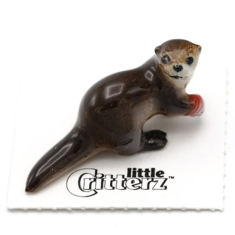 "Rescue River Otter - ""Webster"" - Porcelain Animal FIgurines - Little Critterz, Little Critterz"