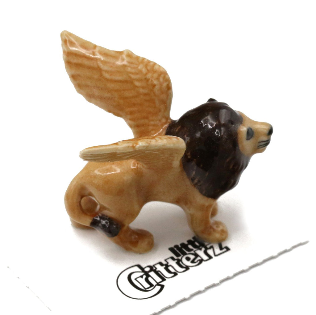 "Fantasy Winged Lion - ""Griffin"" - Porcelain Animal FIgurines - Little Critterz, Little Critterz"