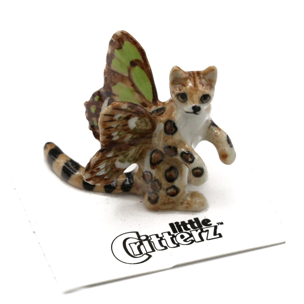 "Magical Creatures Collectibles - Pixie Kitty - ""Spring"" - Porcelain Animal FIgurines - Little Critterz, Little Critterz"