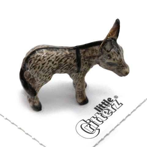 "Donkey Kid-  Porcelain Miniature ""Duffy"" - Porcelain Animal FIgurines - Little Critterz, Little Critterz"