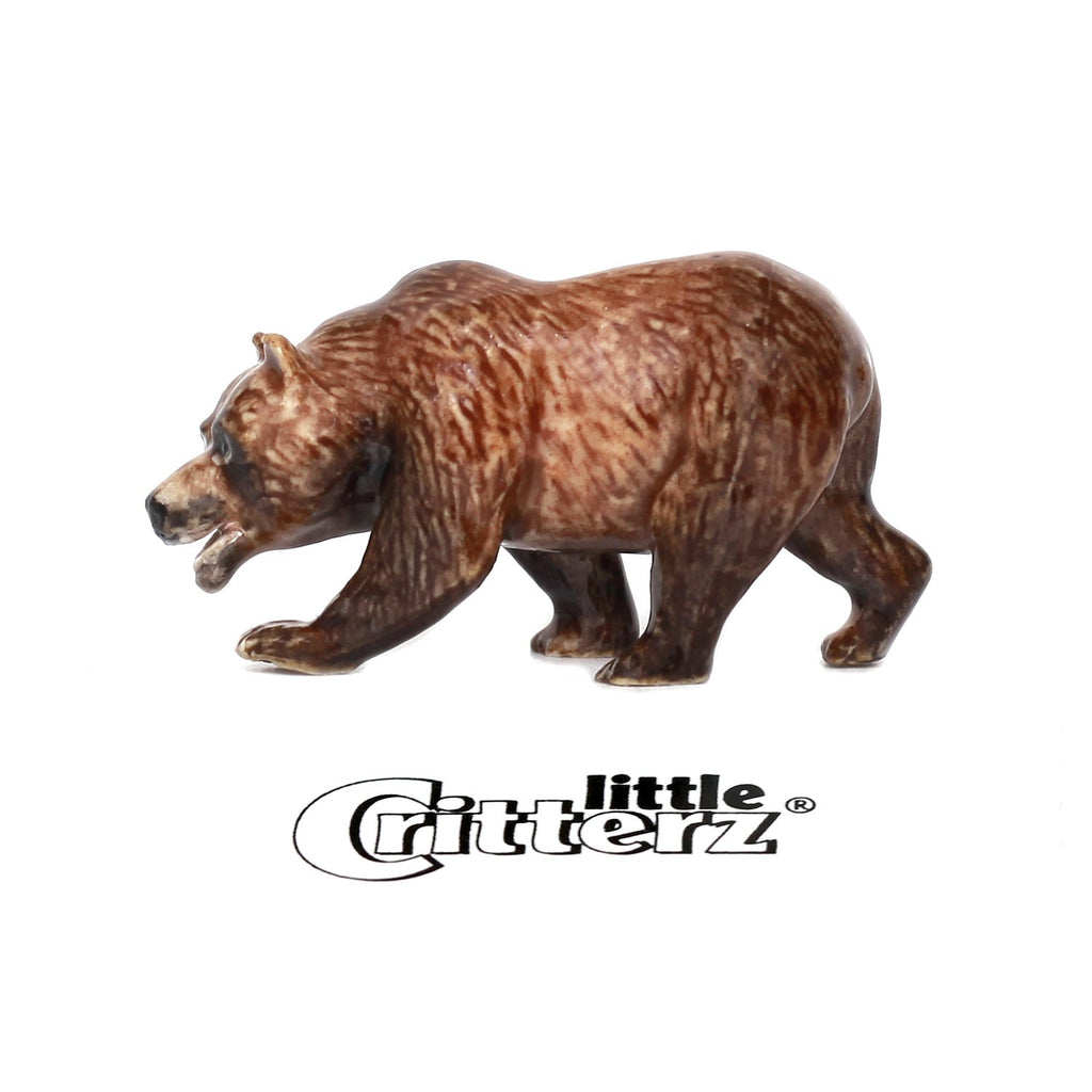 "California Bear ""Monarch""- miniature porcelain figurine"