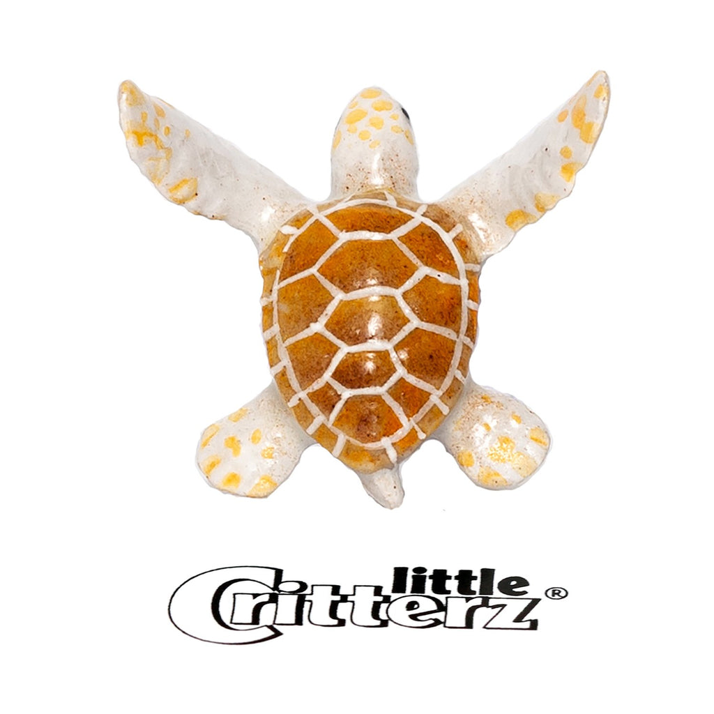 "White Turtle ""Nimbus"" - miniature porcelain figurine"