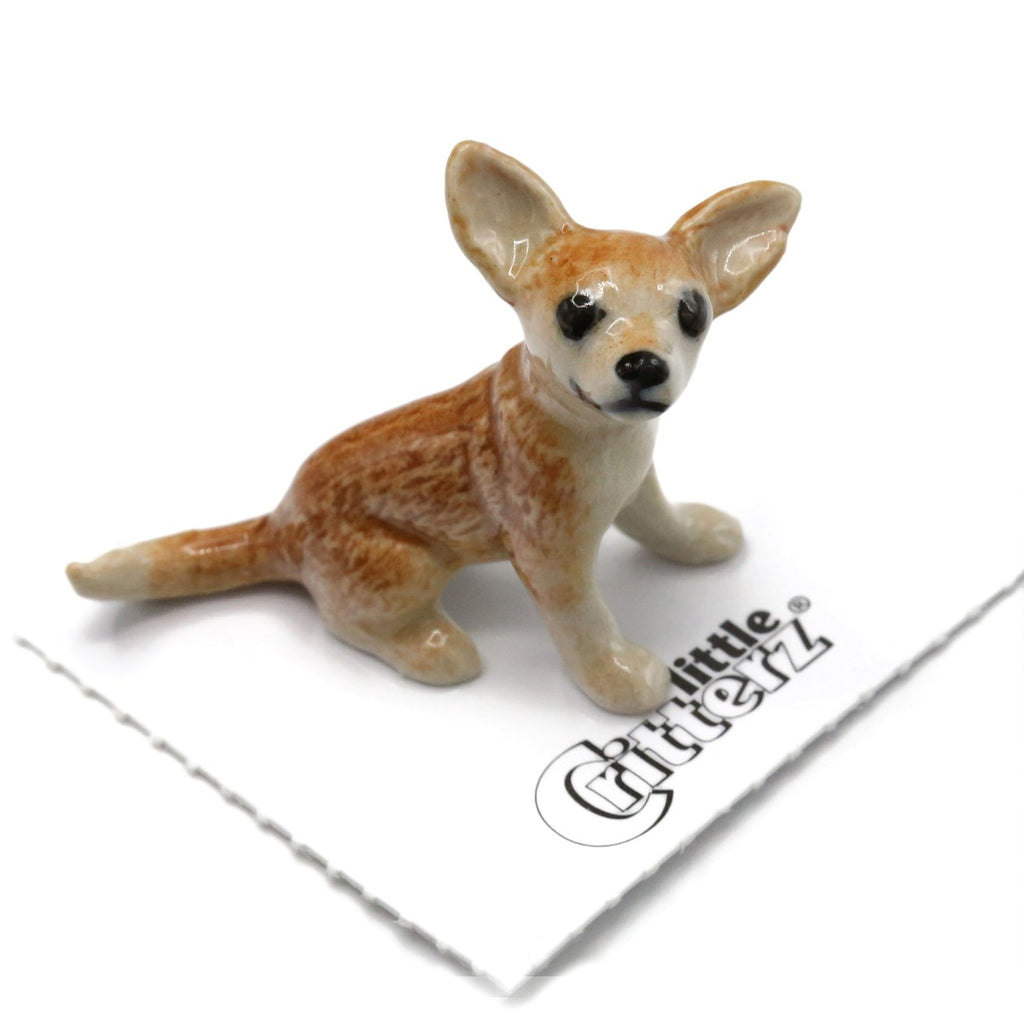 "Chihuahua Figurine - ""Rascal"" - Porcelain Animal FIgurines - Little Critterz, Little Critterz"