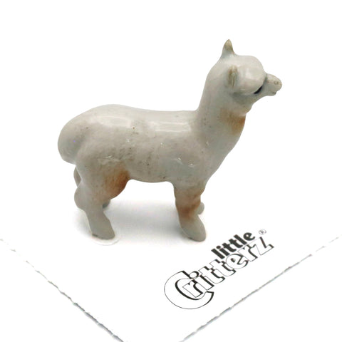 "Alpaca Figurine - ""Huacaya"" - Porcelain Animal FIgurines - Little Critterz, Little Critterz"