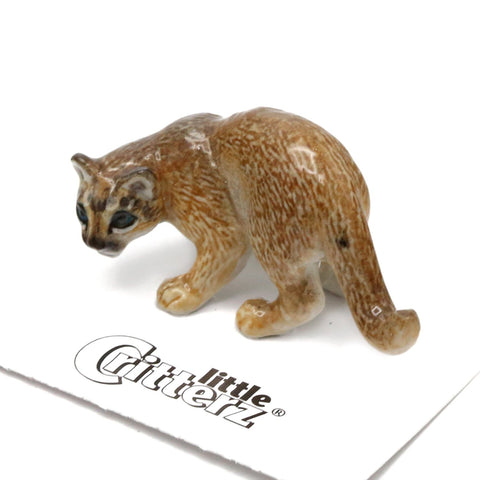 "Cougar Porcelain collectibles - ""Cheyenne"" - Porcelain Animal FIgurines - Little Critterz, Little Critterz"