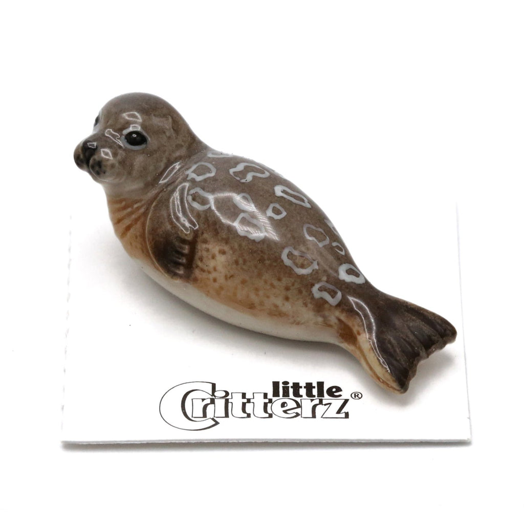 "Seal - Miniature Ringed Seal - ""Chukchi"" - Porcelain Animal FIgurines - Little Critterz, Little Critterz"
