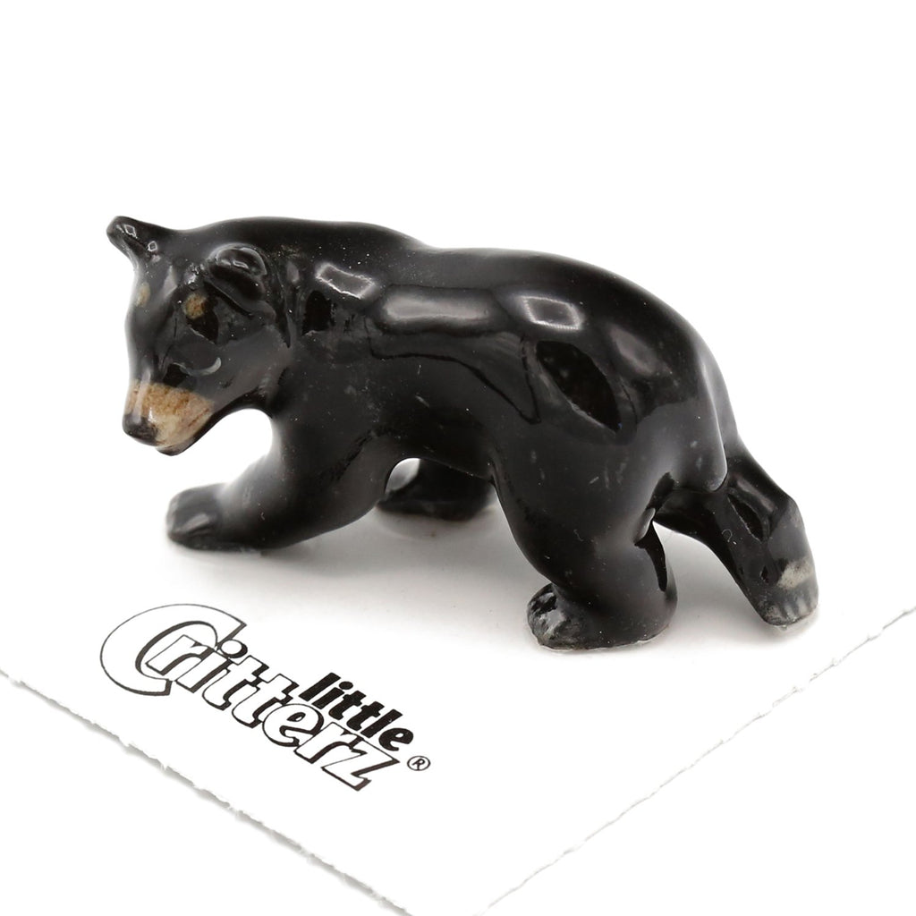 "Bear - Black Bear Figurine - ""Blueberry"" - Porcelain Animal FIgurines - Little Critterz, Little Critterz"