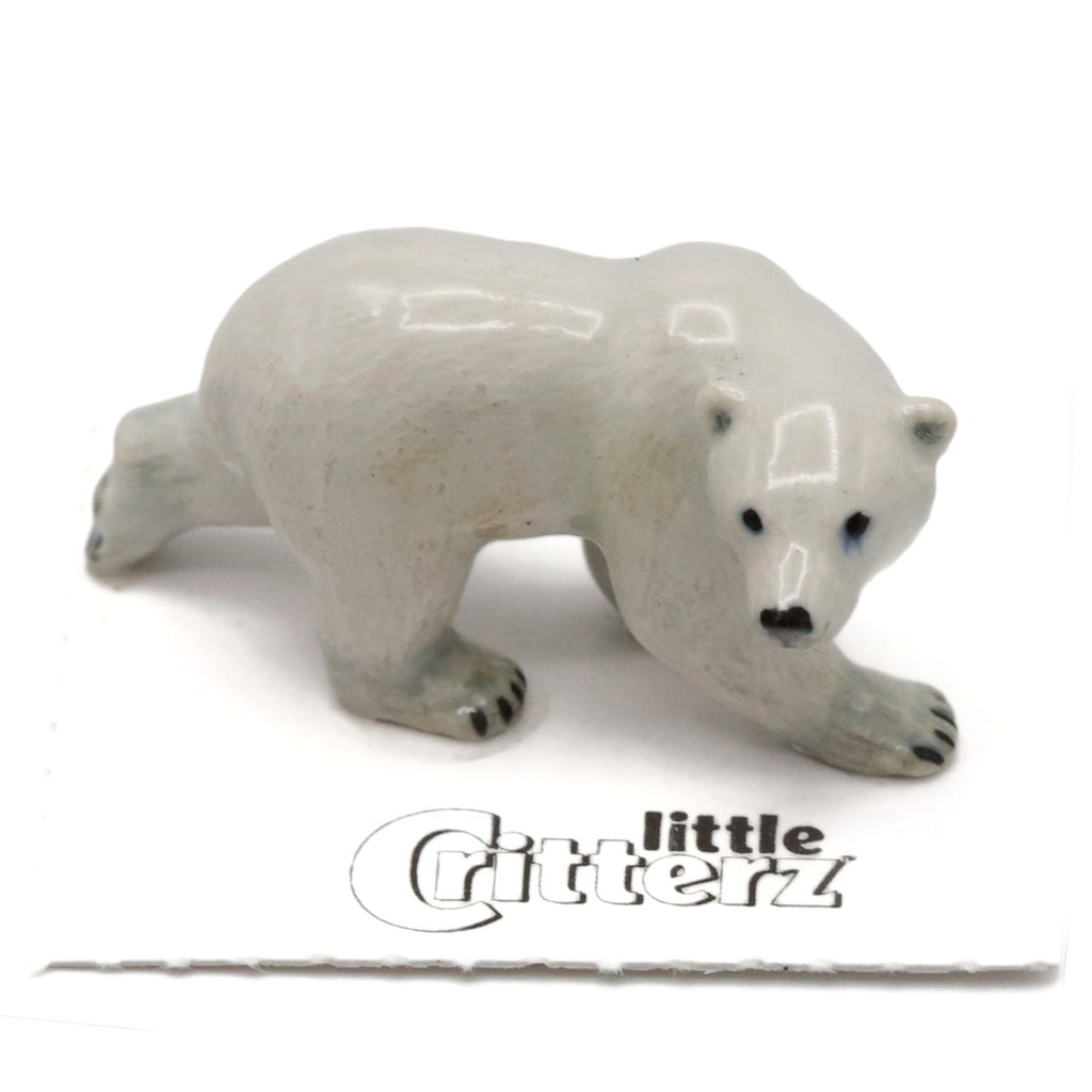 "Bear - Polar Bear Figurine - ""Beaufort"" - Porcelain Animal FIgurines - Little Critterz, Little Critterz"