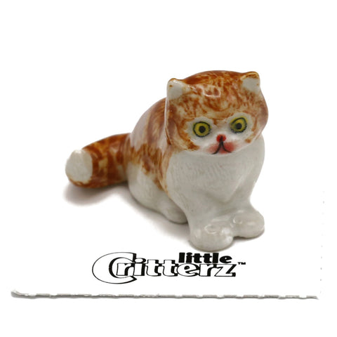 "Cat  - Persian Kitten  ""Princess"" - miniature porcelain figurine"