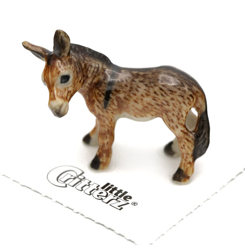 "Burro Figurine - ""Jack"" - Porcelain Animal FIgurines - Little Critterz, Little Critterz"