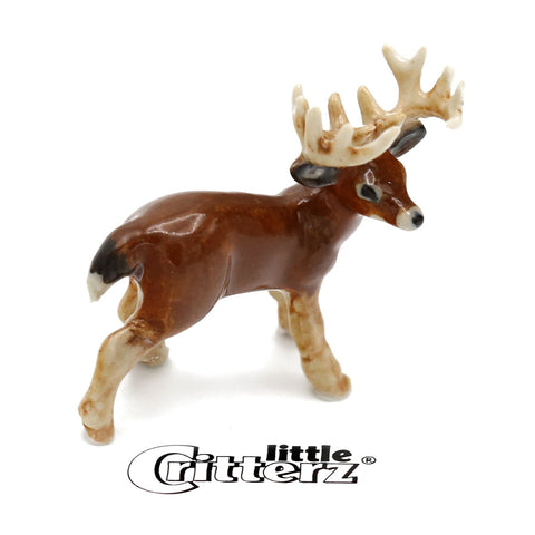 "Deer Figurine - ""Buck"" - Porcelain Animal FIgurines - Little Critterz, Little Critterz"