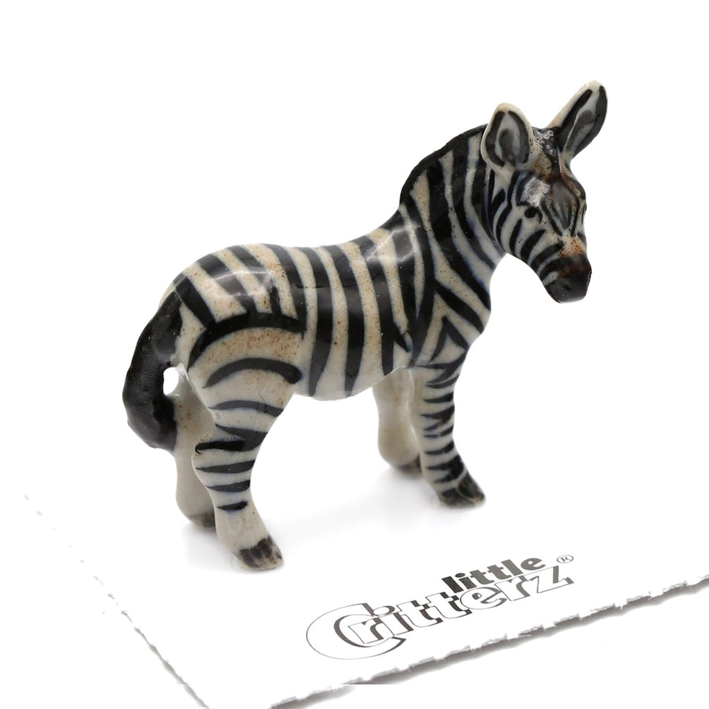 "Zebra - Porcelain Zebra Miniature - ""Flicker"""