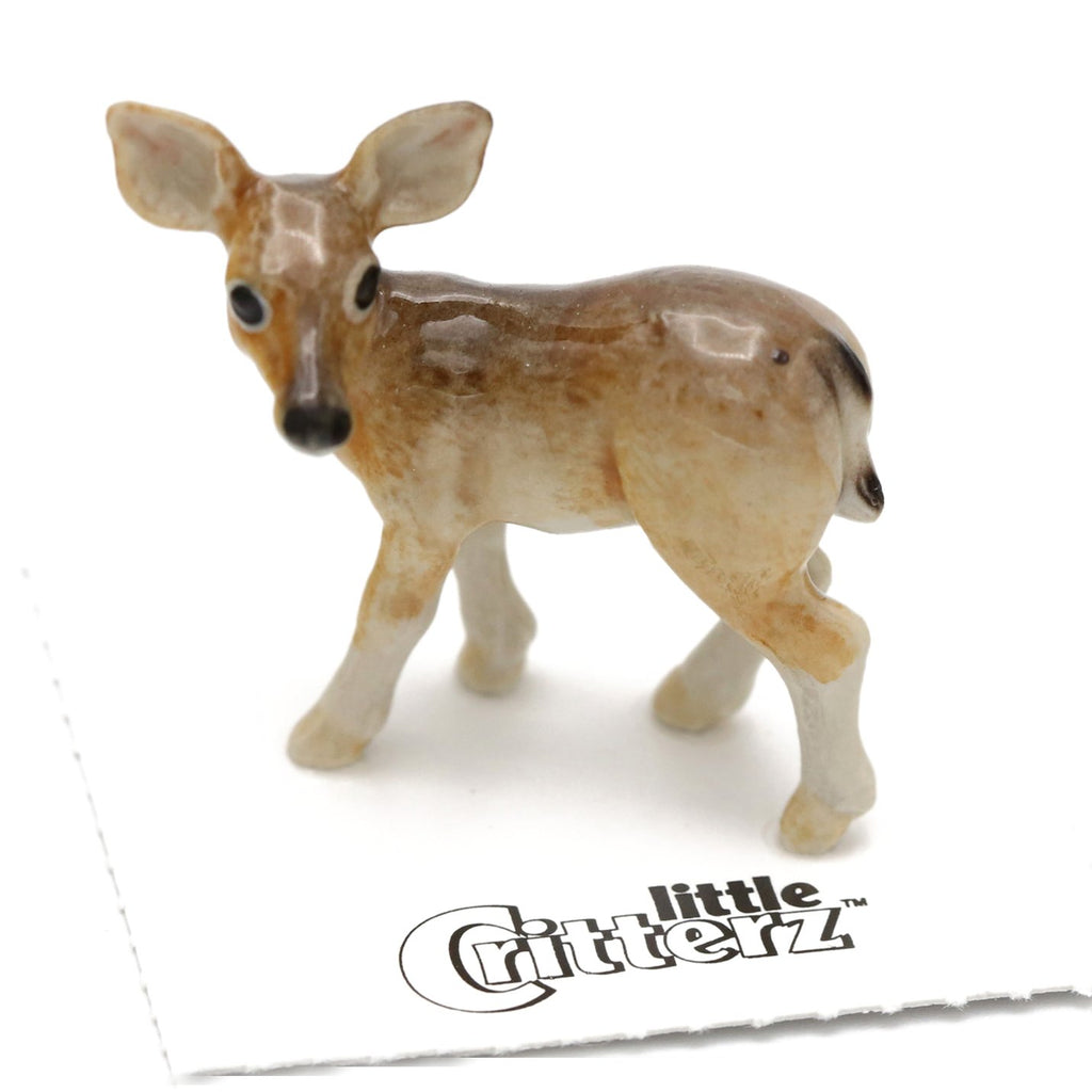 "Deer Doe ""Serenity"" - miniature porcelain figurine"