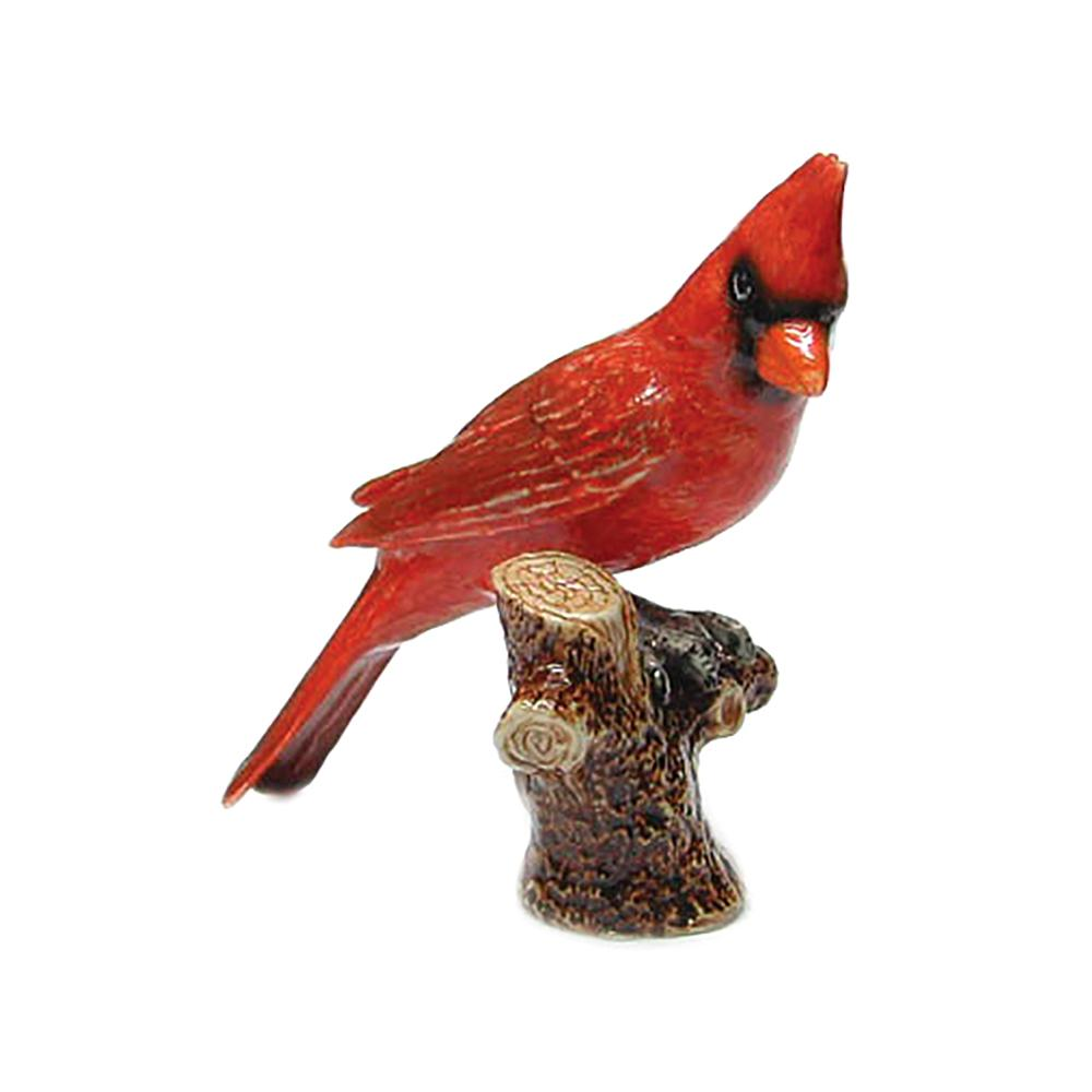 Cardinal on Branch - Porcelain Animal FIgurines - Northern Rose, Little Critterz
