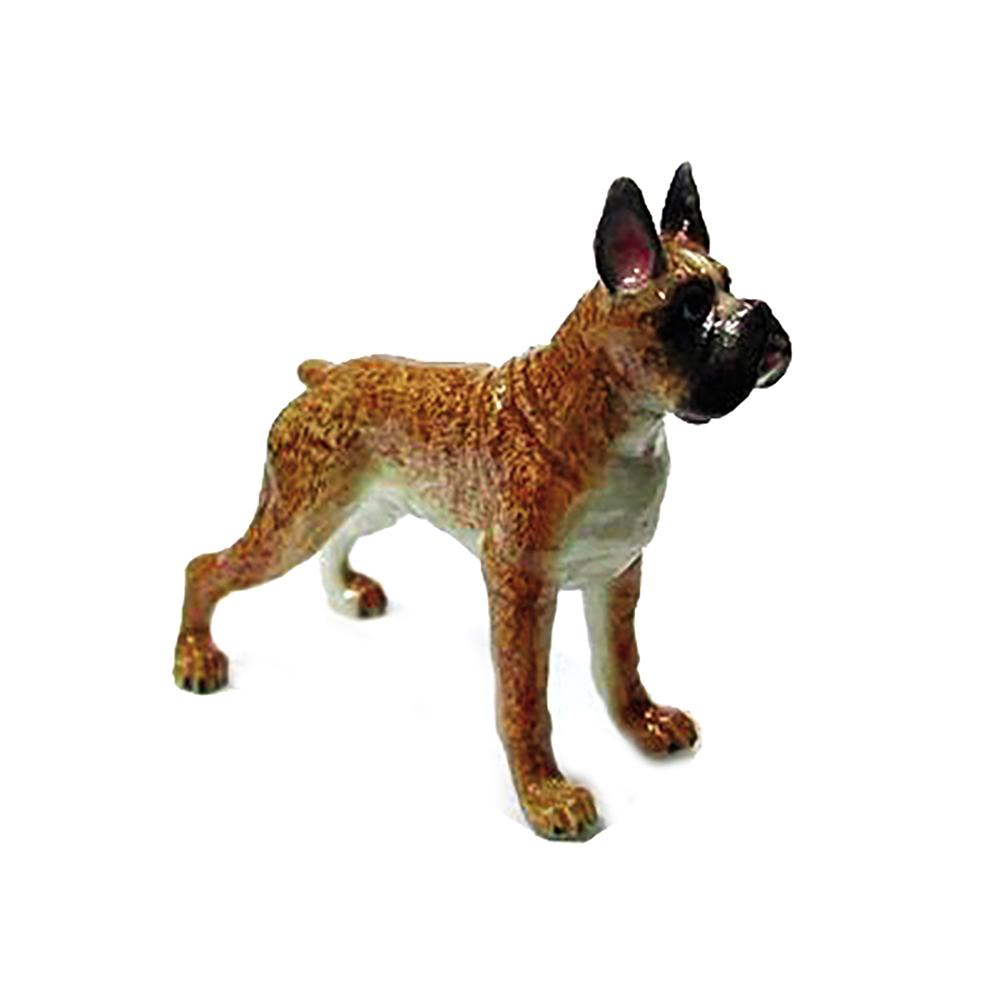 Boxer Standing - Porcelain Animal FIgurines - Northern Rose, Little Critterz