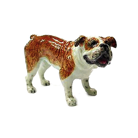 Bulldog Standing - Porcelain Animal FIgurines - Northern Rose, Little Critterz