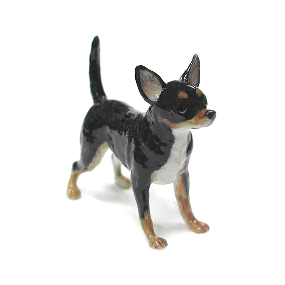 Dog - Black & Tan Chihuahua - Porcelain Animal FIgurines - Northern Rose, Little Critterz