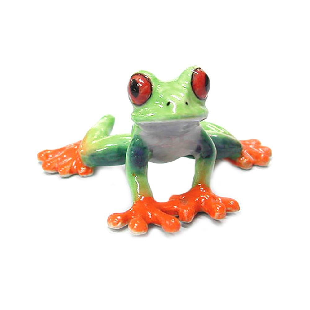 Red-Eyed Tree Frog - miniature porcelain figurine