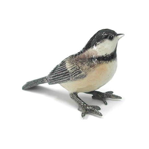 Chickadee - Black-Capped Chickadee - Porcelain Animal FIgurines - Northern Rose, Little Critterz