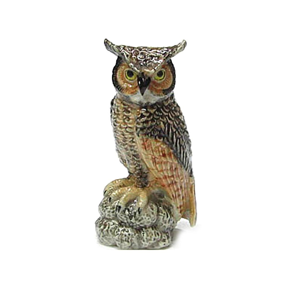 Great Horned Owl - Porcelain Animal FIgurines - Northern Rose, Little Critterz