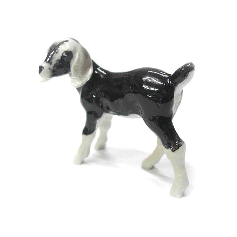 Nubian Goat Kid - Porcelain Animal FIgurines - Northern Rose, Little Critterz