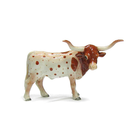 Texas Longhorn - Porcelain Animal FIgurines - Northern Rose, Little Critterz