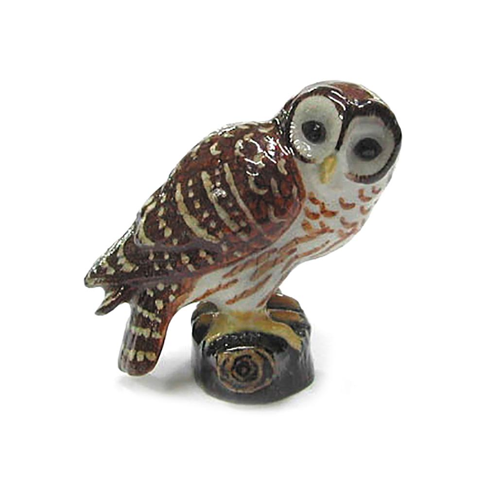 Owl - Porcelain Barred Owl - Porcelain Animal FIgurines - Northern Rose, Little Critterz
