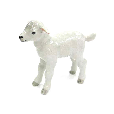 White Lamb - Porcelain Animal FIgurines - Northern Rose, Little Critterz